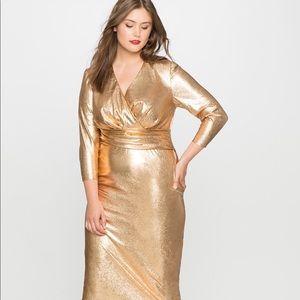 Eloquii Gold Lame Floor LengthDress 🌹🌹